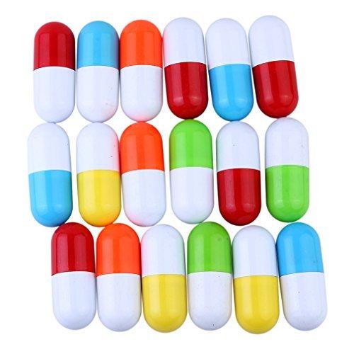 Lukis 5x Pillen Kugelschreiber Teleskopartiger Vitamin Kapsel Kugelschreiber Blaue Mine Kinder Spielzeug (Packung mit 5: zufällige Farbe)