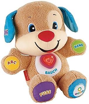 Fisher-Price CDL23 - Lernspaß Hündchen, Plüschtier und Lernspielzeug mit Liedern und Sätzen, mitwachsende Spielstufen, Baby S