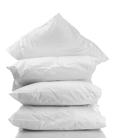 4-Pack Hotel Sleeping Pillows 100% Hypoallergenic White with High Thread  Count 100%
