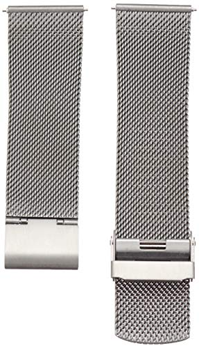Skagen Men 22mm Stainless Steel Mesh Dress Watch Band, Color: Grey (Model: SKB6061)