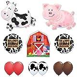 Barn Farm Animals Birthday Party Cow, Pig, Barn Balloons Decorations Supplies