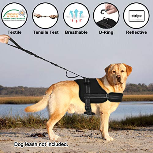 Slowton No Pull Dog Vest Harness, 2018 New Generation Adjustable Neck Strap Chest Strap Breathable Padded Vest with Top Handle Harness with Locking Buckle for Large Dog Training Walking by Slowton (Image #1)