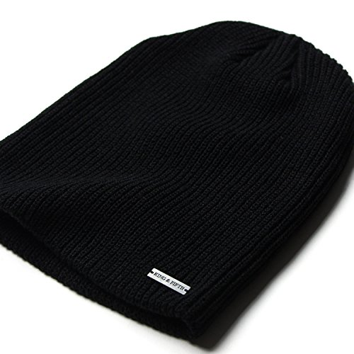 Slouchy Beanie by King & Fifth | Beanies For Men & Women + Premium Quality and Stylish + Winter Hats Black