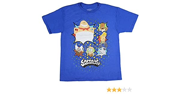 054db8c5 Amazon.com: Bioworld Captain Underpants Youth Boys' Multi Character Group  Licensed T-Shirt Royal Blue: Clothing