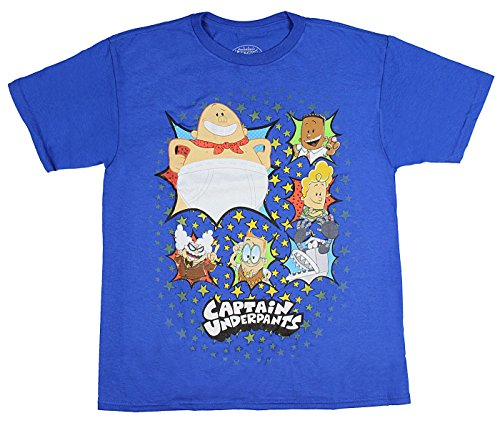 Bioworld Captain Underpants Youth Boys' Multi Character Grou