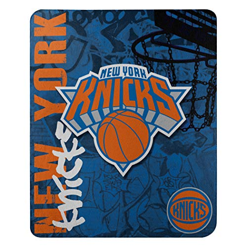 The Northwest Company NBA New York Knicks Hard Knocks Printed Fleece Throw, 50-inch by 60-inch, Red