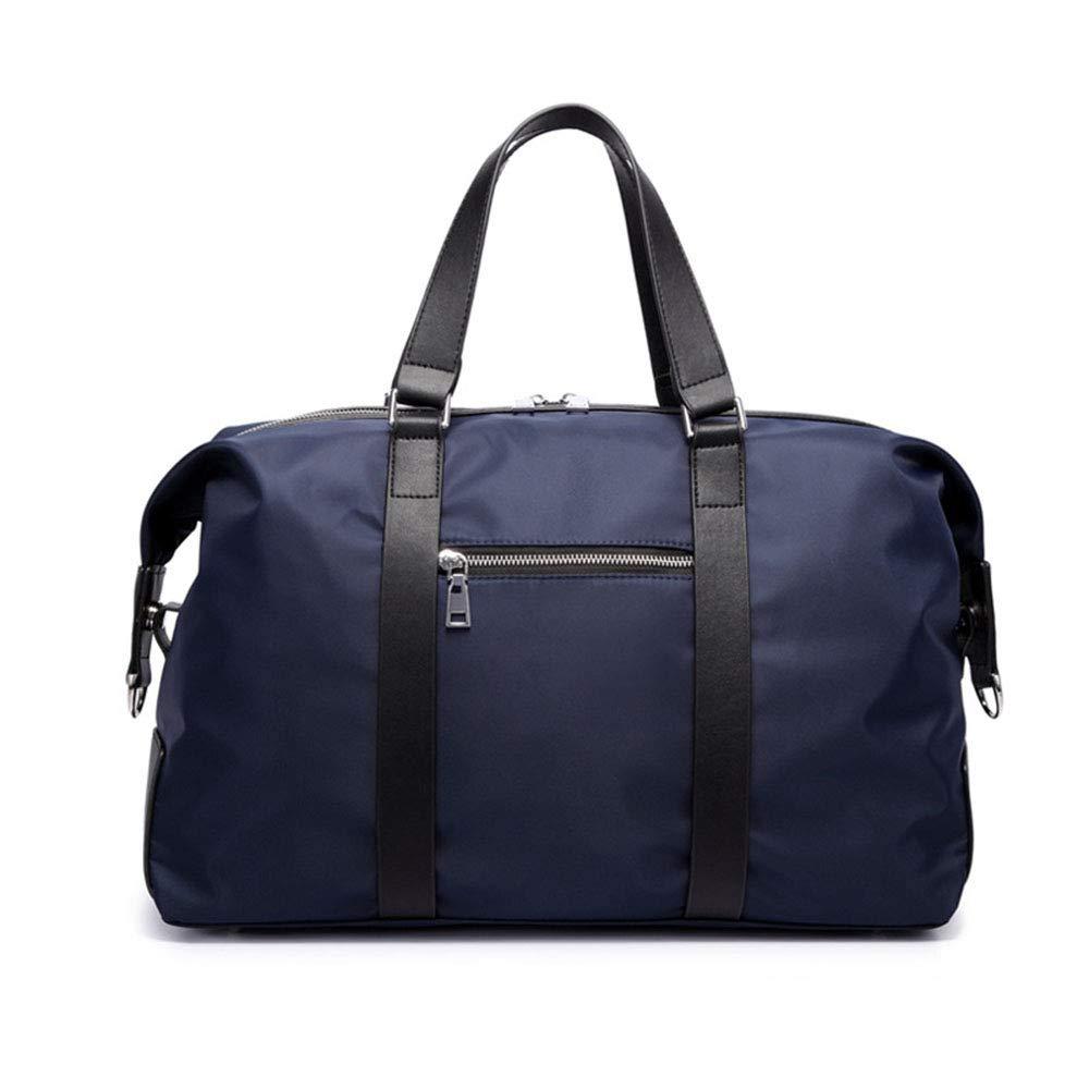 旅行バッグ スタイリッシュなシンプルさメンズトラベルスポーツバッグアウトドアポータブルレジャーショルダーマルチ外側ジムバッグ スポーツバッグ トラベルバッグ (色 : 青)  青 B07P5Z2GCP