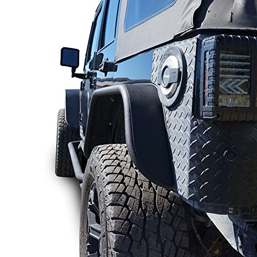 - Steel Tube Fender Flare Front Rear Set Tubular for Jeep Wrangler JK 2007-2017