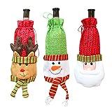 3 Pcs Santa Claus Wine Bottle