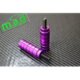 STUNT SCOOTER PEGS WITH HARDENED STEEL AXLE BOLTS (12.9) PAIR (Purple)