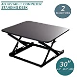 Open Box 30'' Wide Height Adjustable Standing Desk Sit to Stand Desk Work Station (Black)