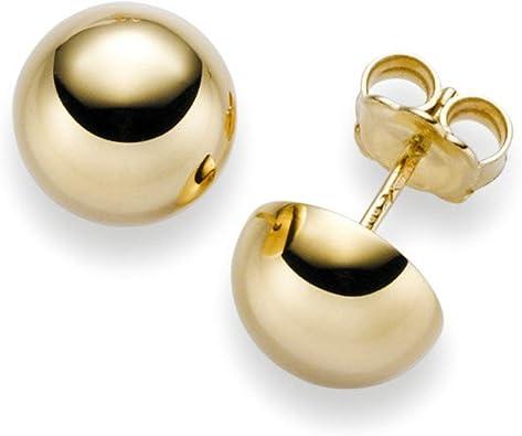 585er-Gold Gelbgold 14 kt  Karat 1 Paar Ohrstecker Kugel 5 mm K751