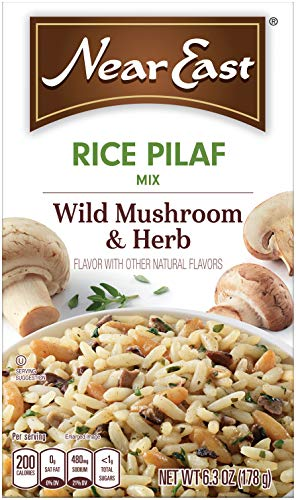 Mushroom Pilaf - Near East Wild Mushrooms & Herbs Rice Pilaf Mix 6.3oz (Pack of 12 Boxes)