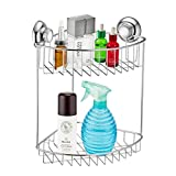 MaxHold Suction Cup Basket Caddy (6th. Double / Two Tier Corner Shower Caddy)
