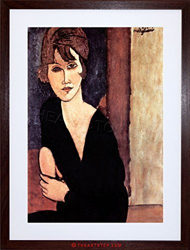 The Art Stop Painting Amedeo Modigliani Madame REYNOUARD Framed Print