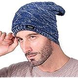 Knotyy Unisex Slouchy Woolen Beanie Cap (Blue, Free Size)