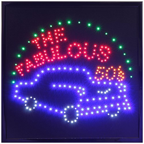 19''x19'' Large the Fabulous 50s Motion LED - Signs Neon 50s
