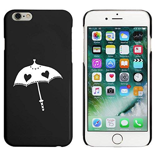 Schwarz 'Herz Regenschirm' Hülle für iPhone 6 u. 6s (MC00018893)