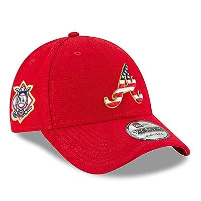 Atlanta Braves New Era 2018 Stars & Stripes 4th of July 9FORTY Adjustable Hat Red