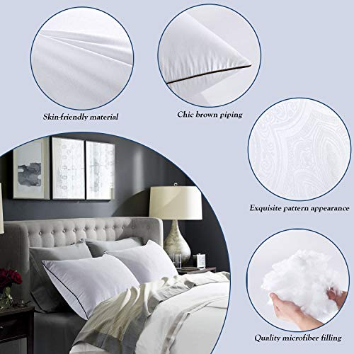 for Sleeping-Hypoallergenic Pillow Side and Sleeper Hotel Pillows Sleeping Soft Fill-Queen Size