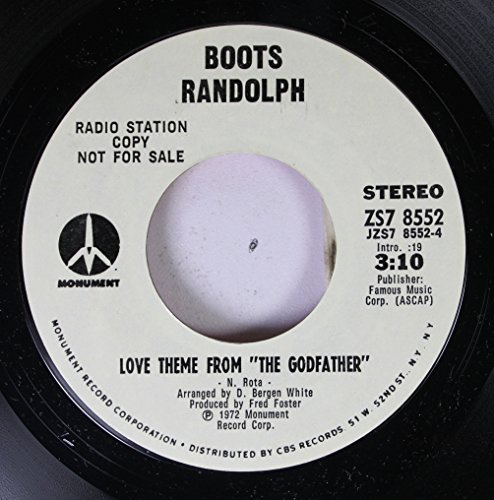 "Price comparison product image Boots Randolph 45 RPM Love Theme From ""The Godfather"" / Rocky Top"