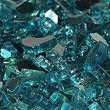 Cheap 1/2″ Caribbean Blue Metallic / Azuria Reflective Fireglass 10 Pound Bag