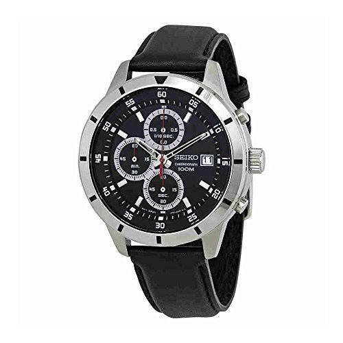 Seiko-Chronograph-Black-Dial-Mens-Watch-SKS571