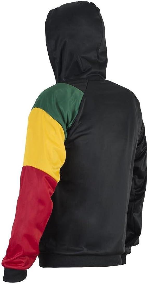 JL Sport Jamaicano Reggae 3 Colores Chaqueta Capucha con Capucha ...