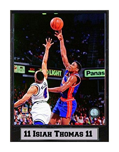 Encore Select 512-35 NBA Detroit Pistons Isiah Thomas Logo Plaque, 9-Inch by 12-Inch