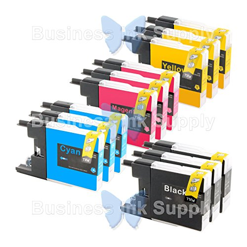 JS 12 PACK LC71 LC75 NON-OEM Ink for BROTHER MFC-J430W LC...