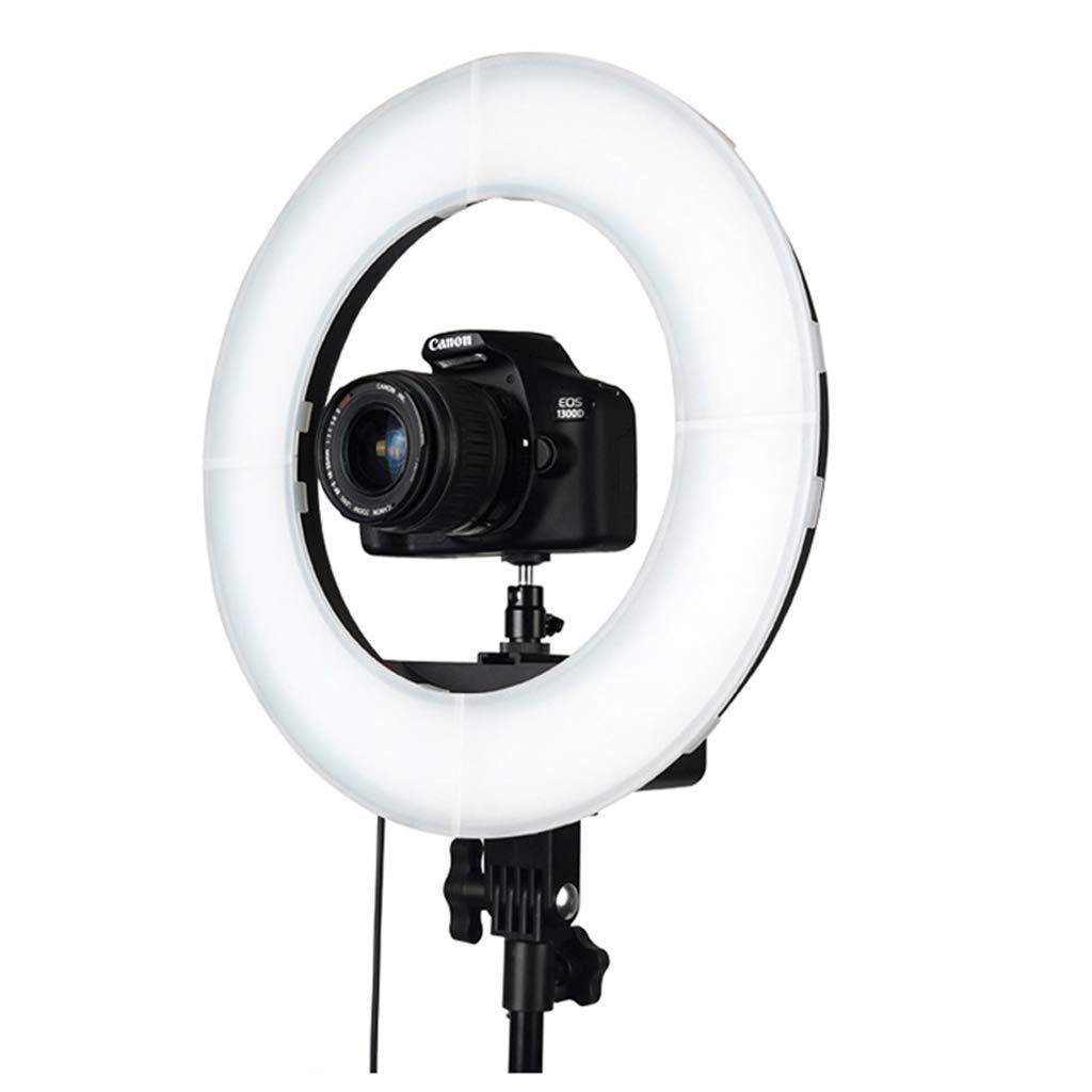 リングライト携帯電話ホルダーの光Ledカメラの照明無段階はIphone 8 7 6プラスXアンドロイドとの互換性調光フィル録画メイク用スタンド 16inch  B07KTKM25P