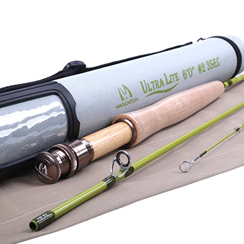 2 Travel Fly Rod (Maxcatch Ultra-lite Fly Rod for Streams (2-weight 6ft 3-Piece))