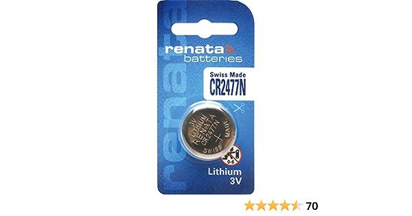 Batterie 1 st Lithium 3V BR2477,Knopfzelle Printmontage D24x7,7mm