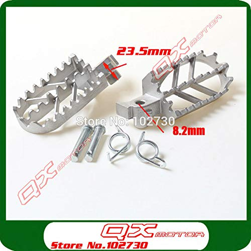 (Frames & Fittings Stainless Steel Footpegs Foot Pegs for XR 50 CRF 70 KLX 110 Thumpstar SDG SSR Pit Dit Bikes)