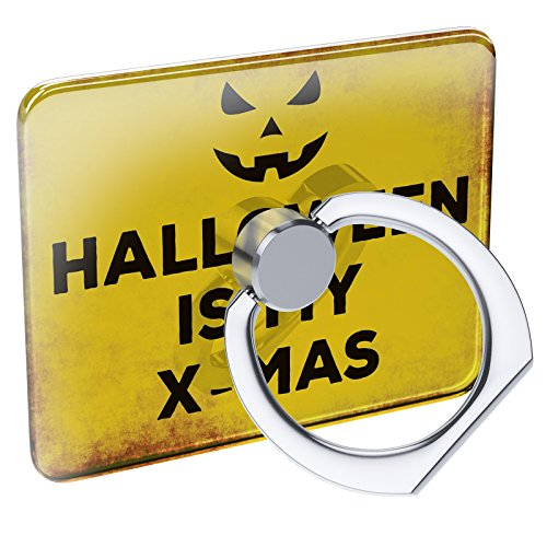 Cell Phone Ring Holder Halloween is My X-Mas Halloween Jack-O'-Lantern Collapsible Grip & Stand Neonblond
