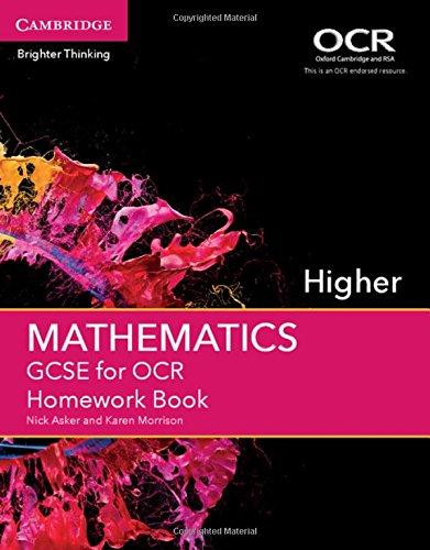 Download GCSE Mathematics for OCR Higher Homework Book (GCSE Mathematics OCR) PDF