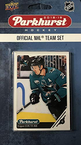 (San Jose Sharks 2018 2019 Upper Deck PARKHURST Series Factory Sealed Team Set including Evander Kane, Joe Thornton and Logan Couture Plus 7 Others)