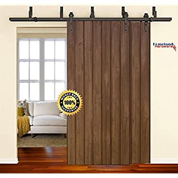 Diyhd 6ft bypass sliding barn wood door for Six foot sliding glass door