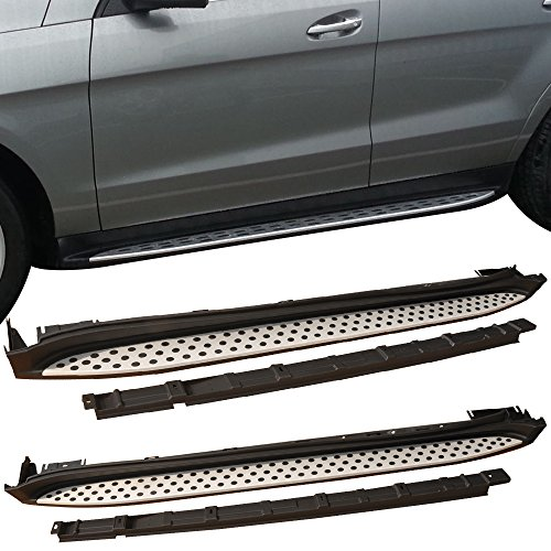 Running Board Fits 2007-2012 Mercedes Benz X164 GL-class | Factory Style Aluminum Black & Silver Side Step Bars Extensions by IKON MOTORSPORTS | 2008 2009 2010 2011