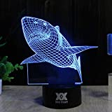 Optical Illusions 3D Lamp Touch Control LED Night Lights Decor Lights Animal Image Series 7 Colours Changes Best Gifts for Kid and Room&Dest Decoration