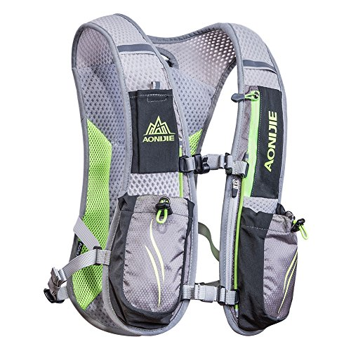 AONIJIE Running Hydration Vest Backpack for Women and Men Lightweight Trail Running Backpack 5.5L Gray
