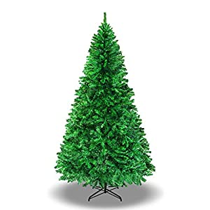 BenefitUSA 5' 6' 7' 7.5' Classic Pine Christmas Tree Artificial Realistic Natural Branches-Unlit with Metal Stand 3