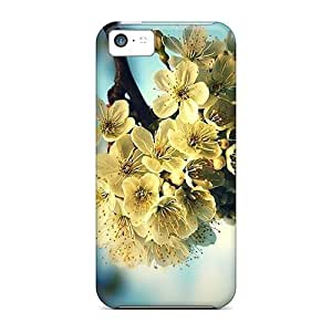 Flexible Tpu Back Case Cover For Iphone 5c - Blooming Fruit Trees