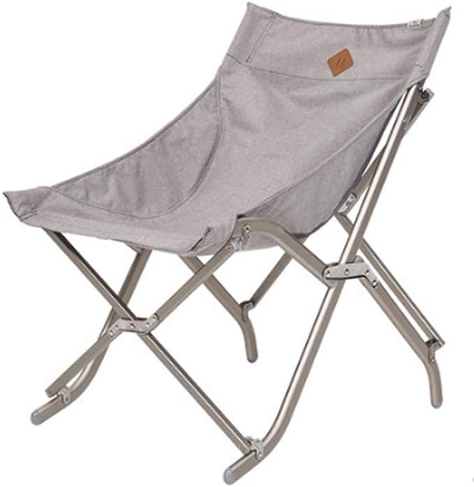 Sillas Plegables Aire Libre de Aluminio portátil Suelta Silla Perezosa Que acampa Playa Espalda de Pesca Luna Silla (Color : Gray): Amazon.es: Hogar