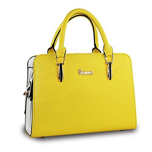 Sacs Handbag tout D'affaires Jaune Ol De Sac Femmes Bandoulière Deley Fourre Élégant Bureau Charme Dame 8UTBRB