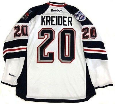 quality design c4a33 a7821 Autographed Chris Kreider Jersey - Stadium Series Reebok Nhl ...