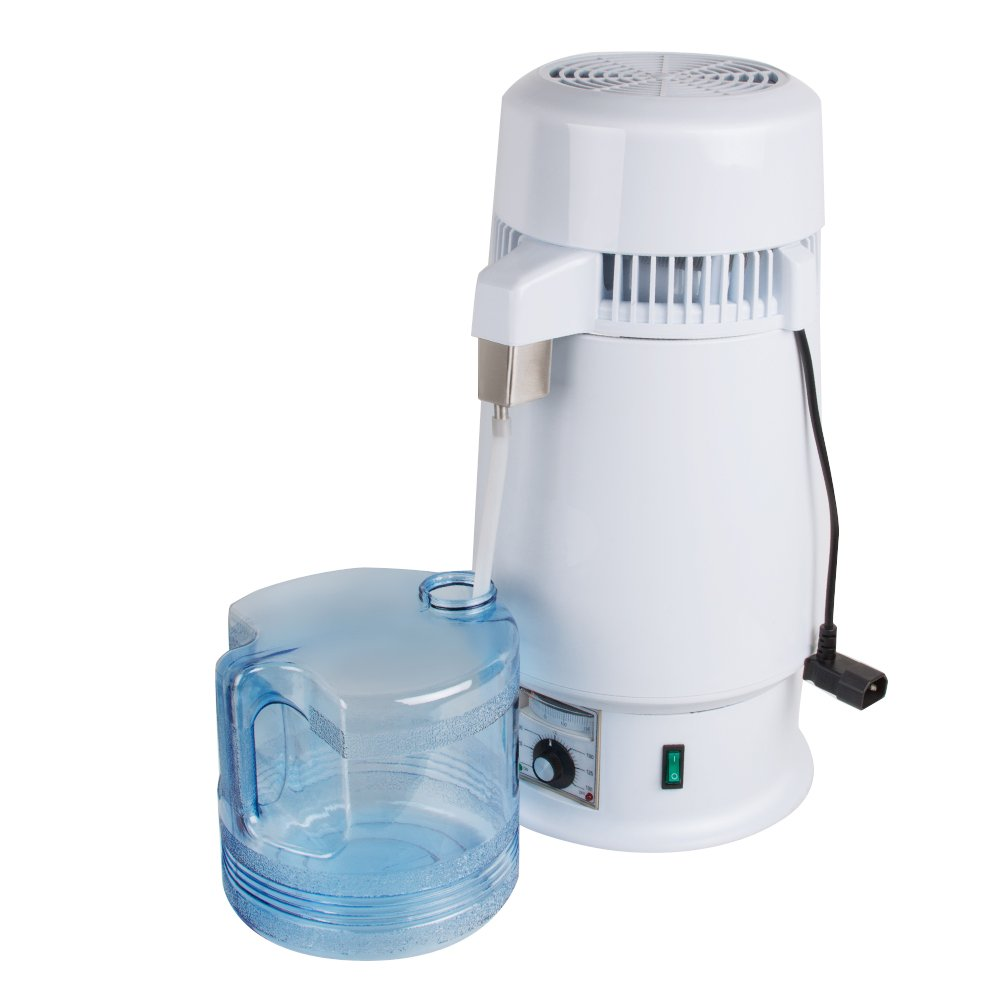 Pevor Water Distiller Water Purity Making Adjustable Temperature 1Gal 4L 750W Electric Pure Water Distiller Dental Medical Lab Home Water Distiller