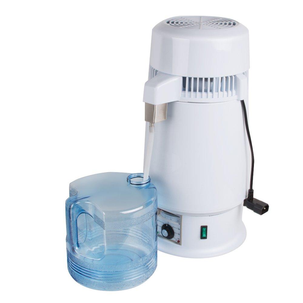Pevor Adjustable Temperature 1Gal 4L 750W Pure Water Distiller Electric Dental/Medical/Lab Home Water Distiller