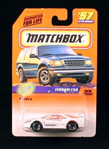 Mattel FERRARI F40 * WHITE * Super Cars Series 8 MATCHBOX...