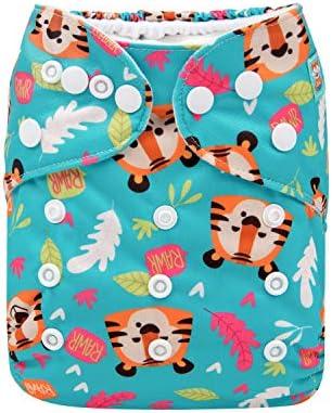 Insert Alva Baby Boy Cloth Diaper Reusable One Size Washable Pocket Nappy